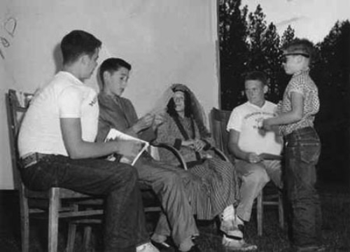 A skit from one of the first camp shows