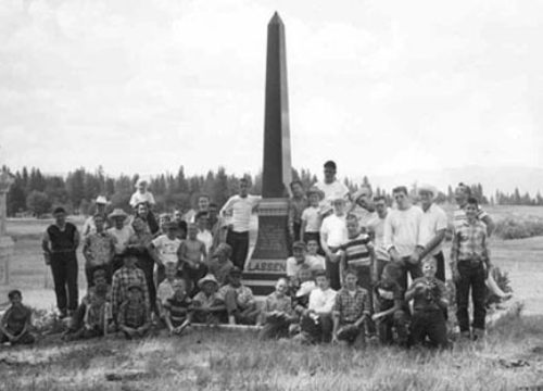 Group shot at Peter Lassen's Grave, 1960