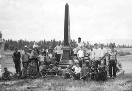 Group shot at Peter Lassen's Grave, 1960